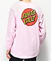 Santa Cruz Classic Dot camiseta rosa de manga larga