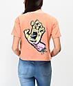 Santa Cruz Fade Hand Peach Crop T-Shirt