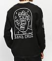 Santa Cruz Gateway Hand camiseta negra de manga larga