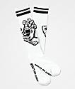 Santa Cruz Hand White & Black Crew Socks