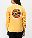 Santa Cruz Locked Stripe Yellow Long Sleeve T-Shirt
