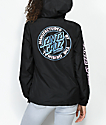 Santa Cruz Original Dot Black Anorak Windbreaker Jacket