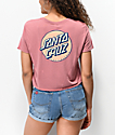Santa Cruz Other Dot Mauve Crop T-Shirt