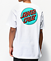 Santa Cruz Other Dot White & Teal T-Shirt