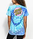 Santa Cruz Other Dot camiseta azul con efecto tie dye