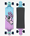 "Santa Cruz Pastel Screaming Hand 40"" Drop Down Longboard completo"