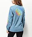 Santa Cruz Rainbow Fade Check Blue Long Sleeve T-Shirt