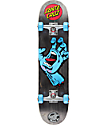 "Santa Cruz Screaming Hand Black 7.5"" completo de skate"