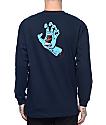 Santa Cruz Screaming Hand camiseta de manga larga en azul marino