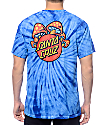 Santa Cruz Shroom Dot Blue Tie Dye T-Shirt