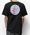 Santa Cruz Spill Dot Black T-Shirt