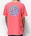 Santa Cruz Spill Dot Coral T-Shirt
