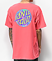 Santa Cruz Spill Dot camiseta Coral