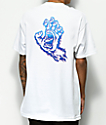 Santa Cruz Throwdown Hand camiseta blanca