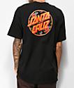 Santa Cruz Vacation Dot Black T-Shirt