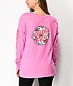 Santa Cruz Vacation Dot Fuchsia Pink Long Sleeve T-Shirt