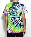 Santa Cruz Wave Dot Flashback camiseta con efecto tie dye