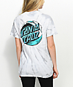 Santa Cruz Wave Dot Spider Silver Tie Dye T-Shirt