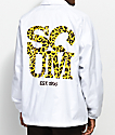 Scum Leopard Scum White Coaches Jacket