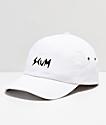 Scum Logo White Strapback Hat