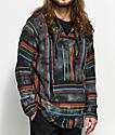Senor Lopez Poncho de multi color y negro con efecto tie dye