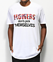 Sheesh World Flowers camiseta blanca