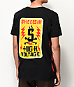 Sheesh World High Voltage Black T-Shirt