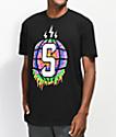 Sheesh World Splat Globe Black T-Shirt