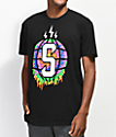 Sheesh World Splat Globe camiseta negra