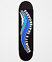"Shorty's Skate Wave 7.75"" Black & Blue Skateboard Deck"