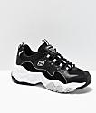 Skechers D'Lites 3.0  Wavy zapatos de ante negro y blanco