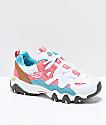Skechers x One Piece D'Lites 2 zapatos blancos, rosas y azules