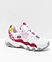 Skechers x One Piece D'Lites 2 zapatos en rosa y blanco