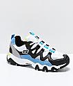 Skechers x One Piece D'Lites 2 zapatos negros, azules  y blancos