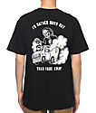 Sketchy Tank Burn Out Black T-Shirt