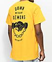 Sketchy Tank Down With My Demons camiseta amarilla