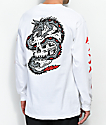 Sketchy Tank Dragon Skull camiseta blanca