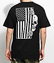 Sketchy Tank Flag Black T-Shirt