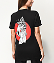 Sketchy Tank Geisha Boyfriend Fit Black T-Shirt