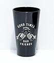 Sketchy Tank Good Times conjunto de 2 vasos negros de pinta