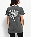 Sketchy Tank Heart camiseta gris