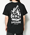 Sketchy Tank Lurking Class Savage Black T-Shirt