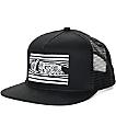Sketchy Tank Peeking Black Snapback Hat