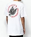 Sketchy Tank Redrum Opinions camiseta blanca
