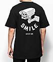 Sketchy Tank Smile camiseta negra