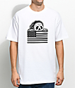 Sketchy Tank Stripes White T-Shirt