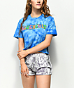 Slushcult Blue Tie Dye Crop T-Shirt
