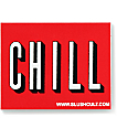 Slushcult Chill Logo Pegatina