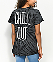 Slushcult Chill Out Black Tie Dye T-Shirt