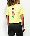 Slushcult Flower camiseta corta en color amarillo